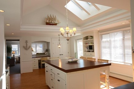 South Yarmouth Cape Cod vacation rental - Kitchen with cathedral ceiling and  skylights is bright & cheery.