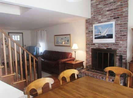 Chatham, near Hardings Beach Cape Cod vacation rental - View of Living Area, from Dining Table