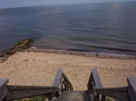 Dennis Cape Cod vacation rental - Beach view from top of steps