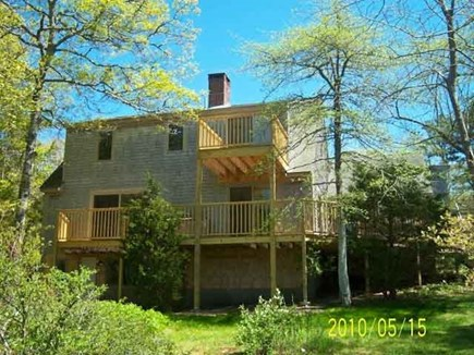 Harwich Cape Cod vacation rental - Rear of house. An outdoor shower is included.