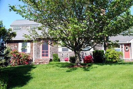 Brewster Cape Cod vacation rental - Deep front yard set back off the private road.