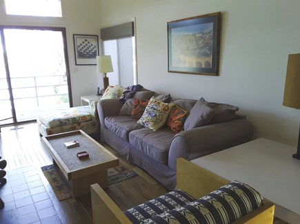 Mashpee Cape Cod vacation rental - Living Room with slider to deck