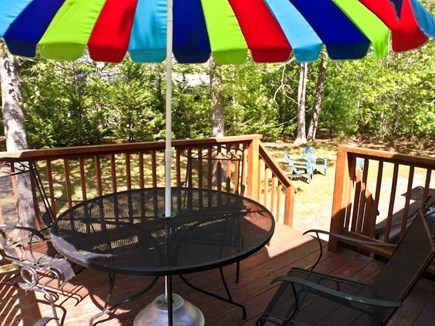 Brewster Cape Cod vacation rental - Lovely deck with BBQ.