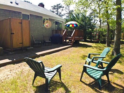 Brewster Cape Cod vacation rental - Large private yard with enclosed outdoor shower.