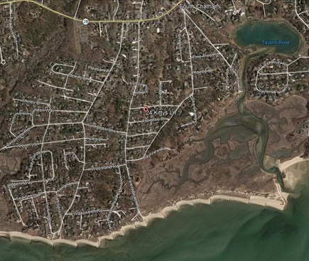Chatham Cape Cod vacation rental - Aerial View - walk from house to beach