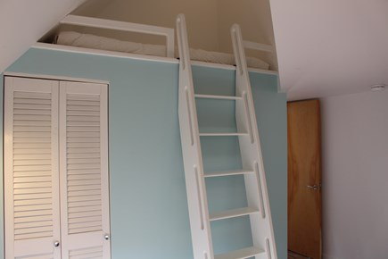 Sandwich Cape Cod vacation rental - Custom built ships ladder leads to loft bed