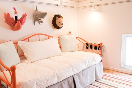 Sandwich Cape Cod vacation rental - Not-So-Scary animals watch over trundle bed in whimsical room