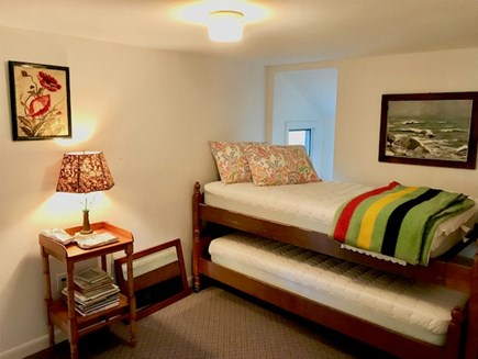 Orleans Cape Cod vacation rental - Section Bedroom #2 with trundle bed (2 twins) - wall divider