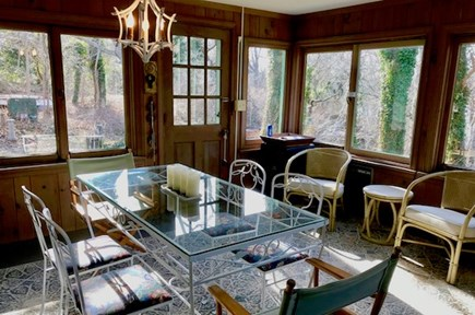 Orleans Cape Cod vacation rental - Dining in porch