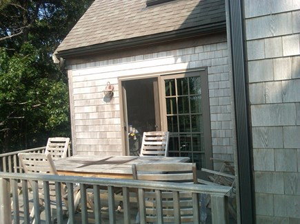 Provincetown Cape Cod vacation rental - Outside deck with large table and chairs, great for watch sunset