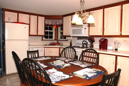 South Dennis Cape Cod vacation rental - Eat-in kitchen with everything that you need.