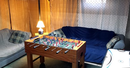 South Dennis Cape Cod vacation rental - Basement game with foosball and air hockey