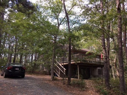 Wellfleet Cape Cod vacation rental - House exterior with parking area for 4 cars
