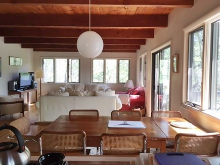 Wellfleet Cape Cod vacation rental - Dining Area and Living Room