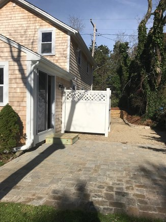 Eastham Cape Cod vacation rental - Stone patio with outdoor shower