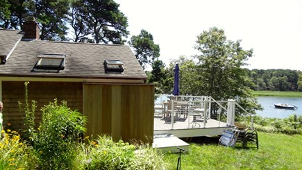 Orleans Cape Cod vacation rental - View of cottage, deck and water
