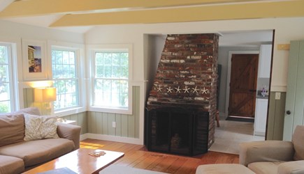 Orleans Cape Cod vacation rental - Living room fireplace