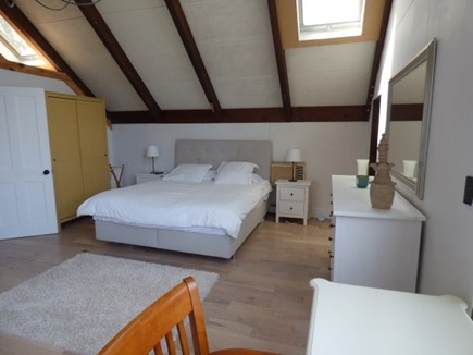 Brewster Cape Cod vacation rental - Master Bed Room w/King Bed and Door to back deck.Lots of sunlight