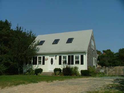 South Dennis Cape Cod vacation rental - Front of the house, plenty of parking, last house dead end street