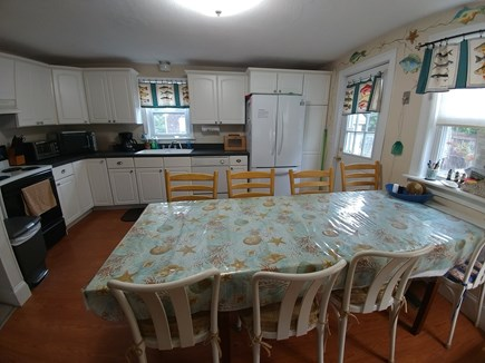 South Dennis Cape Cod vacation rental - Kitchen, big frig with ice maker