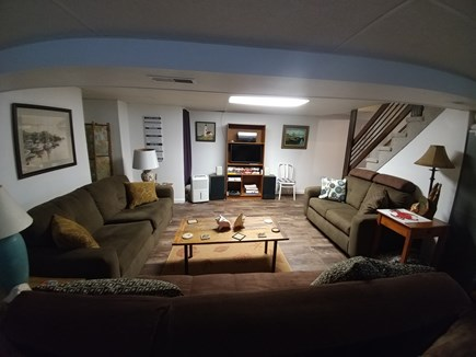 South Dennis Cape Cod vacation rental - Finished Basement - Full size futon, Sofa and Loveseat
