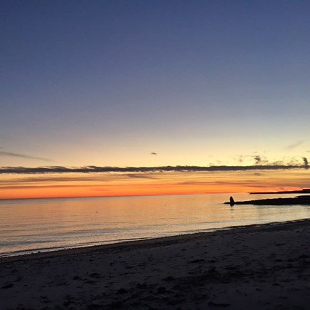west harwich Cape Cod vacation rental - Glass of vino watching sunset?