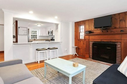 west harwich Cape Cod vacation rental - Living room looking into kitchen
