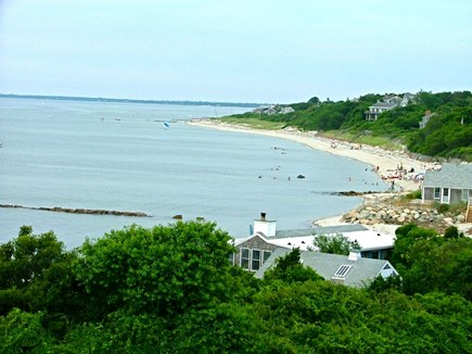 Brewster Cape Cod vacation rental - View of Cape Cod Bay from upper deck