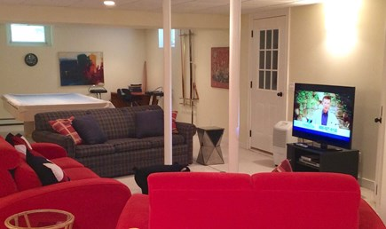 Brewster Cape Cod vacation rental - Lower level family /game room