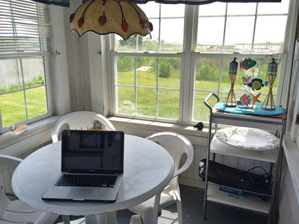 West Yarmouth Cape Cod vacation rental - Breakfast room with view of Lewis Bay