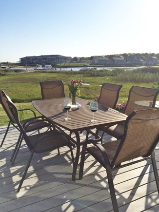 West Yarmouth Cape Cod vacation rental - View from deck, beach is to the left