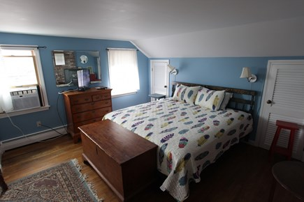 Pochet community, East Orleans Cape Cod vacation rental - Master bedroom with king bed and amazing ocean views.