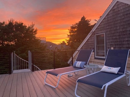 Pochet community, East Orleans Cape Cod vacation rental - Enjoy ocean sunrises and sunsets from renovated upper deck