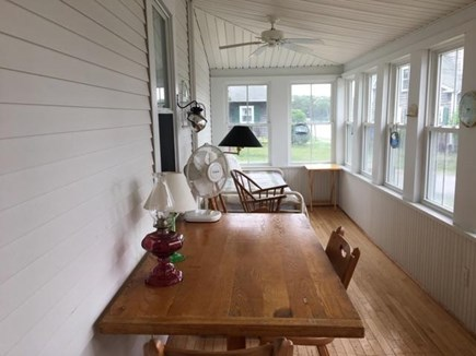 Pocasset Pocasset vacation rental - Enclosed porch with views of waters of Hen Cove.