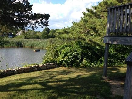 Pocasset Pocasset vacation rental - Back yard view of pond.