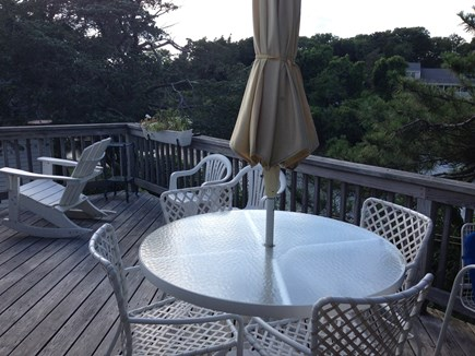 Pocasset Pocasset vacation rental - Back deck overlooking pond.