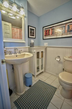 Hyannis Port Cape Cod vacation rental - Bath 1 has tub and shower.