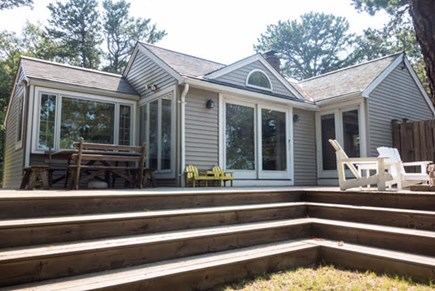 Hyannis Port Cape Cod vacation rental - Spacious and private deck which overlooks the inlet.