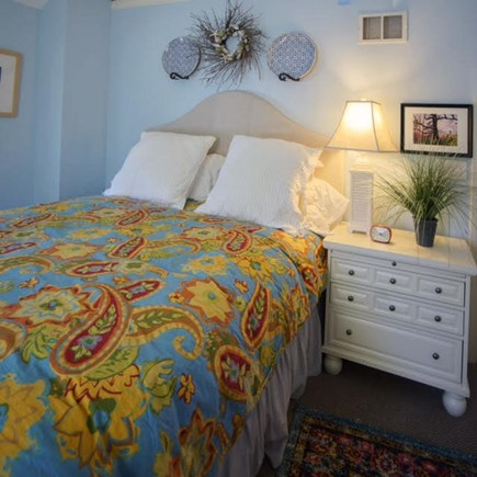 Hyannis Port Cape Cod vacation rental - Bedroom 1 has a queen size bed and lots of storage.