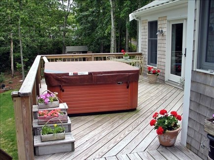 Orleans Cape Cod vacation rental - Gorgeous deck with private hot tub outside Master Bedroom