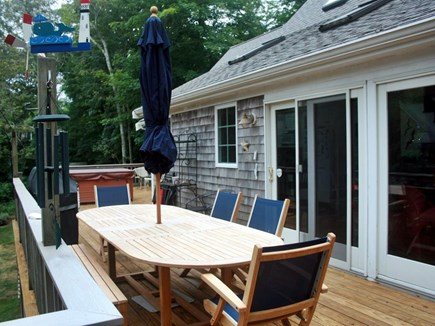 Orleans Cape Cod vacation rental - Relaxing deck for dining.