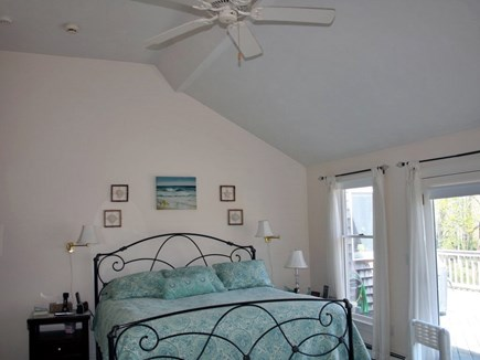 Orleans Cape Cod vacation rental - Spacious Master Bedroom w/king size bed & hot tub outside door!