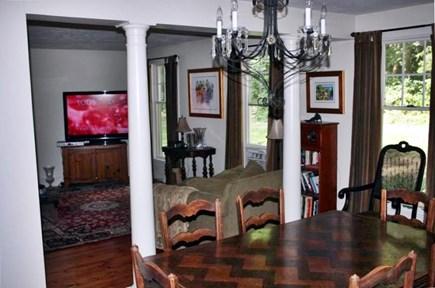 Orleans Cape Cod vacation rental - Living Room with 52' high definition TV.