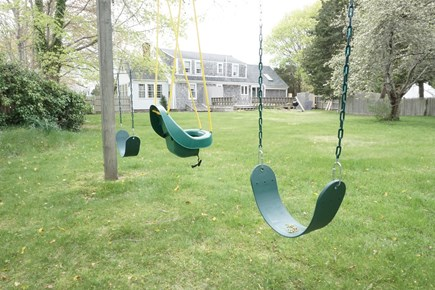 Bourne, Pocasset Cape Cod vacation rental - Back yard with swing set