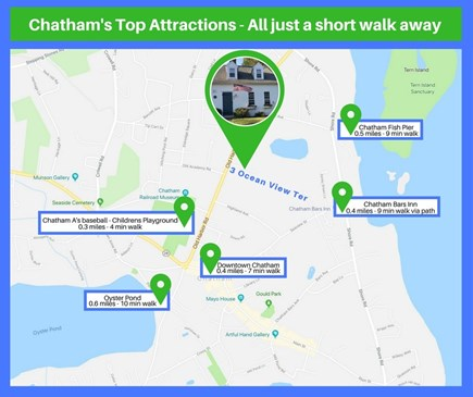 Chatham Cape Cod vacation rental - Walking Map