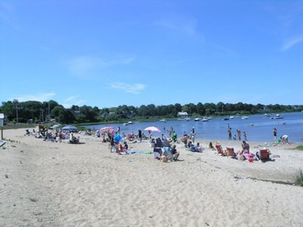 Chatham Cape Cod vacation rental - Oyster Pond Beach - Kid friendly beach with docks to jump off