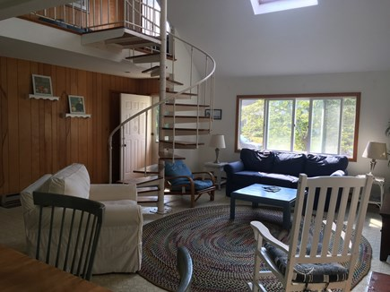 North Falmouth Cape Cod vacation rental - Open Living Room and Staircase