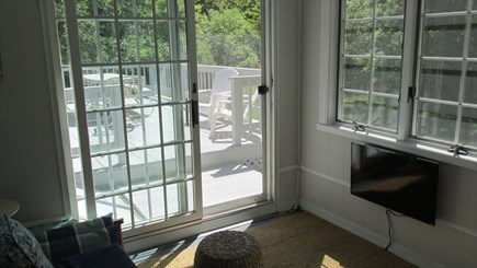 Eastham Cape Cod vacation rental - TV Porch with access to the back deck