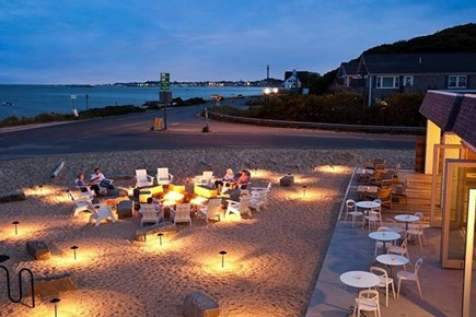 Provincetown Cape Cod vacation rental - Lounge and fire pit at Harbor Hotel