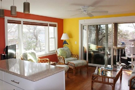 Provincetown Cape Cod vacation rental - Bright living area with a peek of the bay